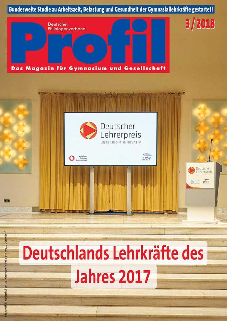 Profil Ausgabe 03/2018 - Deutschlands Lehrkräfte des Jahres 2017